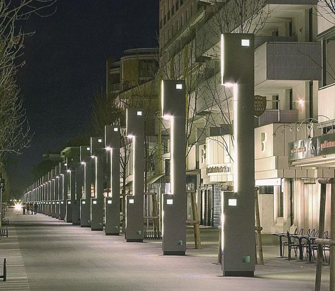 Lignano monolith beleuchtung for City design arredo urbano